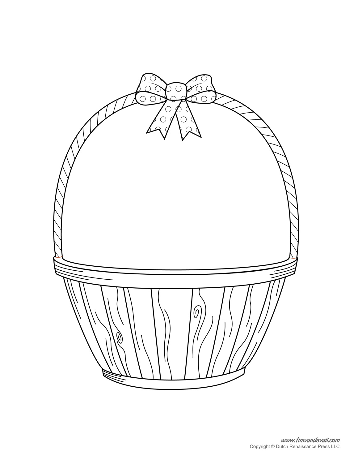 Empty easter basket clipart picture transparent Empty Easter Basket Coloring coloring page, coloring image ... picture transparent