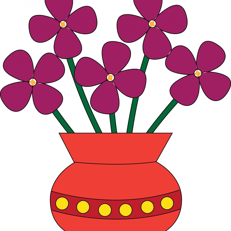 Empty flower vase clipart