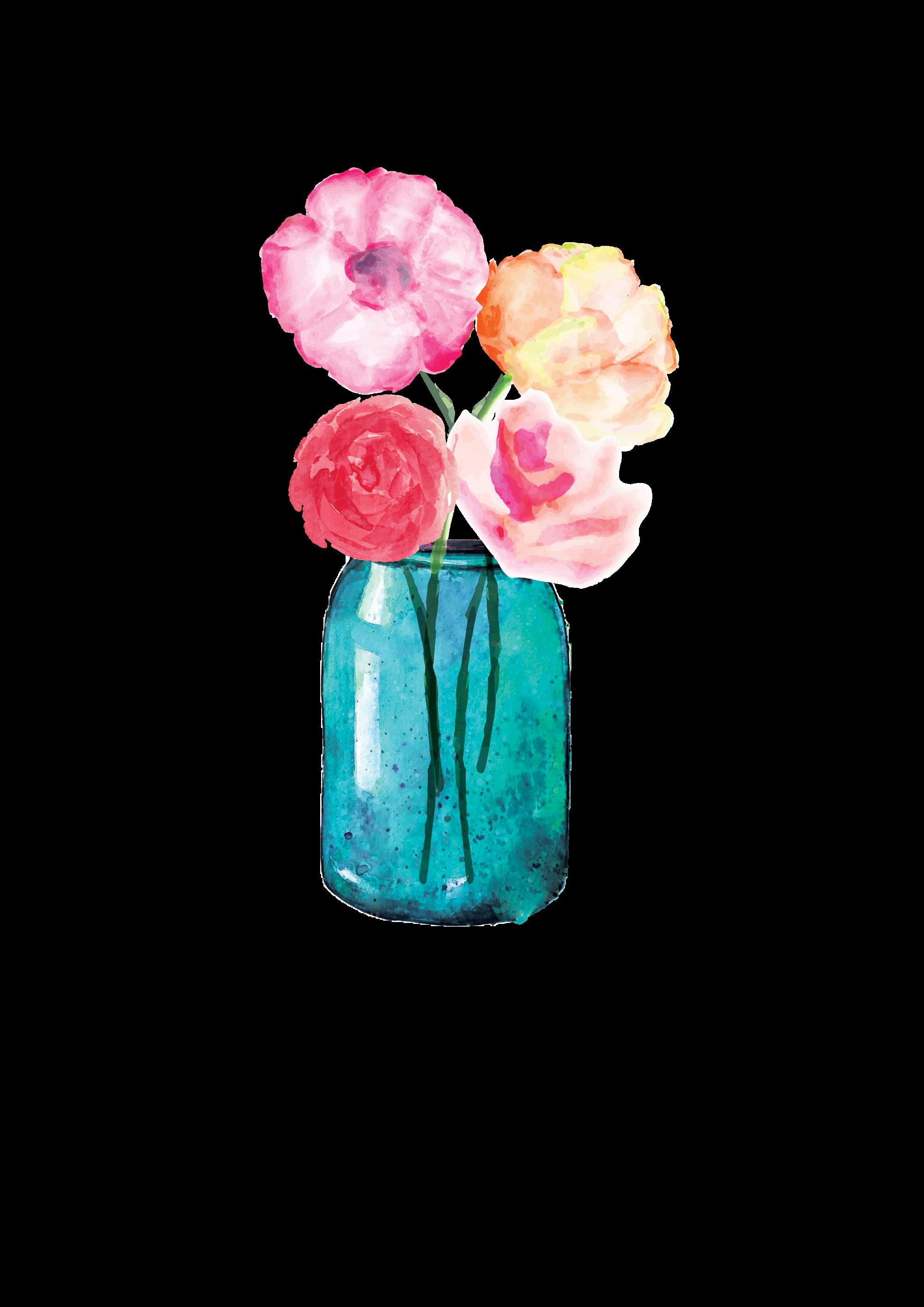 Mason jar blue flower clipart clip art stock Lauren Baxter : Flowers in a Mason Jar | Watercolor | Pinterest ... clip art stock