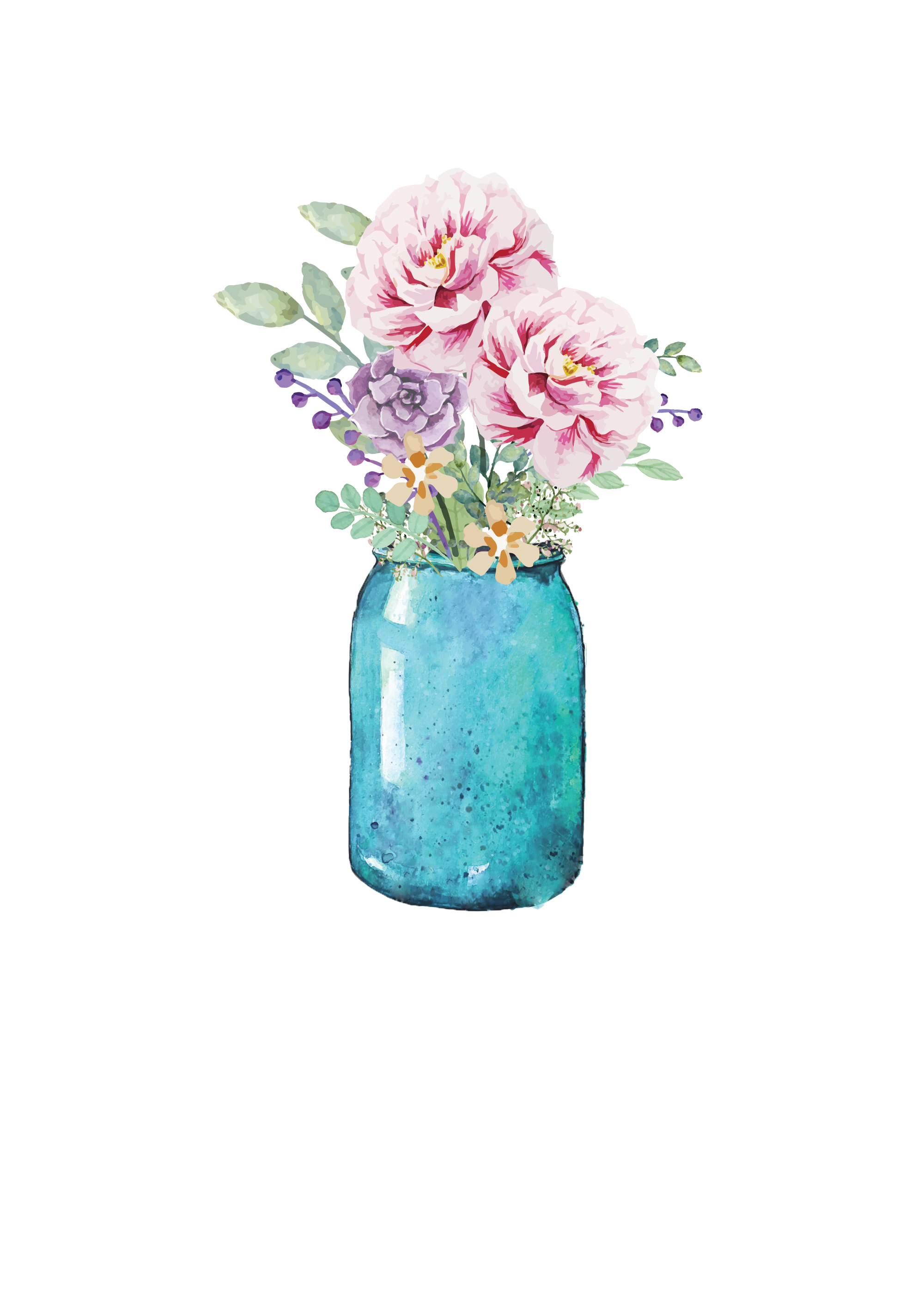 Mason jar blue flower clipart graphic library library Lauren Baxter : Flowers in a Mason Jar | Wallpaper | Pinterest | Jar ... graphic library library