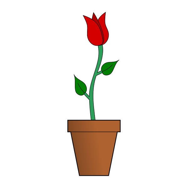 Empty flower vase clipart graphic royalty free File:Symbol-Flower.svg - Wikimedia Commons graphic royalty free