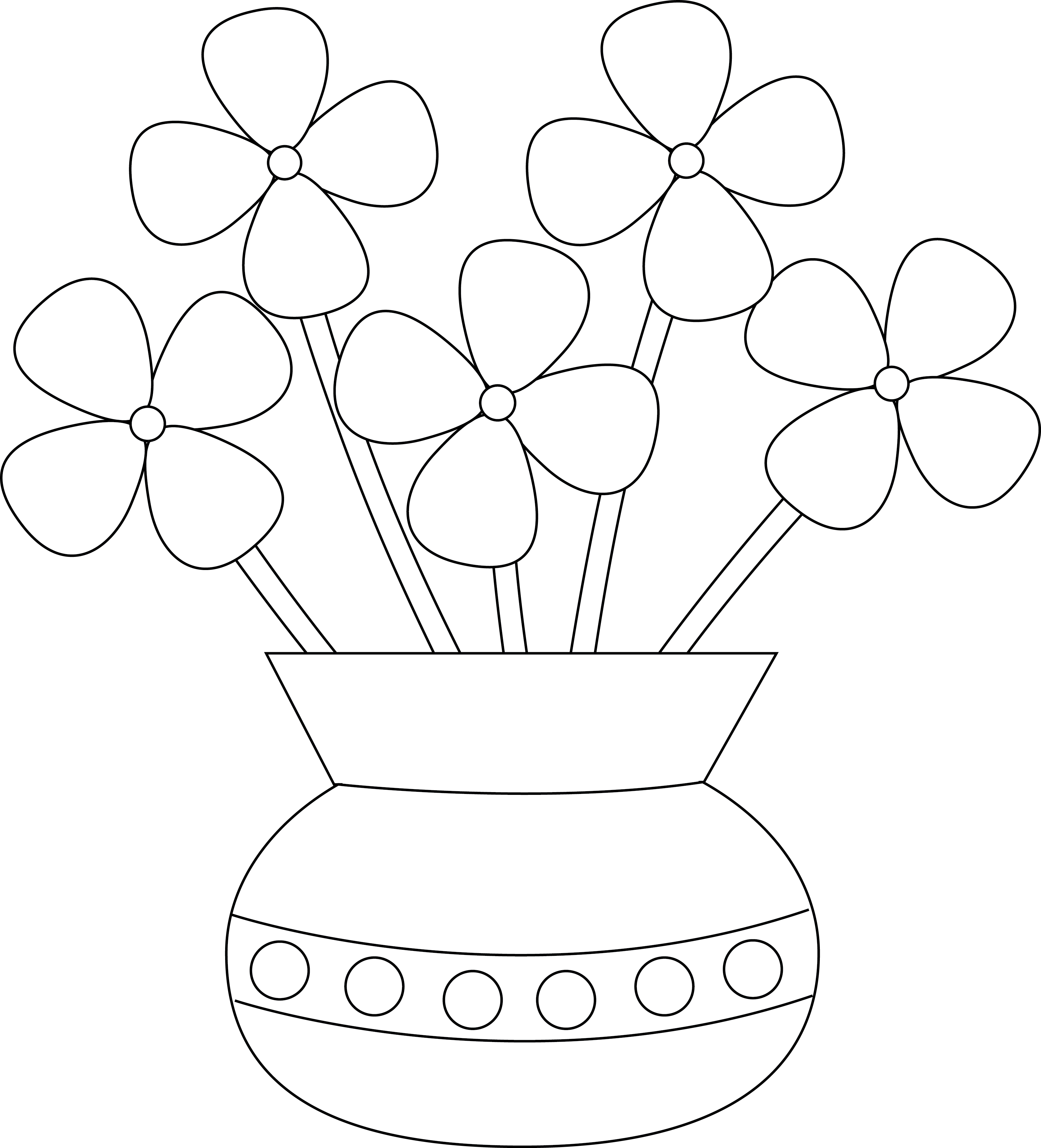 Empty flower vase clipart png transparent stock 28+ Collection of Flower Vase Drawing Step By Step | High quality ... png transparent stock
