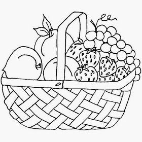 Empty fruit basket clipart black and white clip art royalty free stock Fruit Basket Pictures For Kids Colour Drawing HD Wallpaper | crafts ... clip art royalty free stock