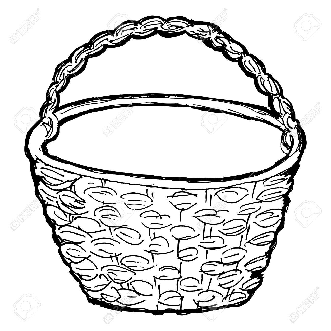 Empty fruit basket clipart black and white jpg transparent Collection of 14 free Dishes clipart empty fruit aztec clipart ... jpg transparent