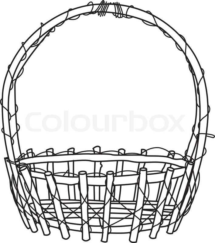 Empty fruit basket clipart black and white clipart black and white stock Empty Apple Basket Clipart | Free download best Empty Apple Basket ... clipart black and white stock