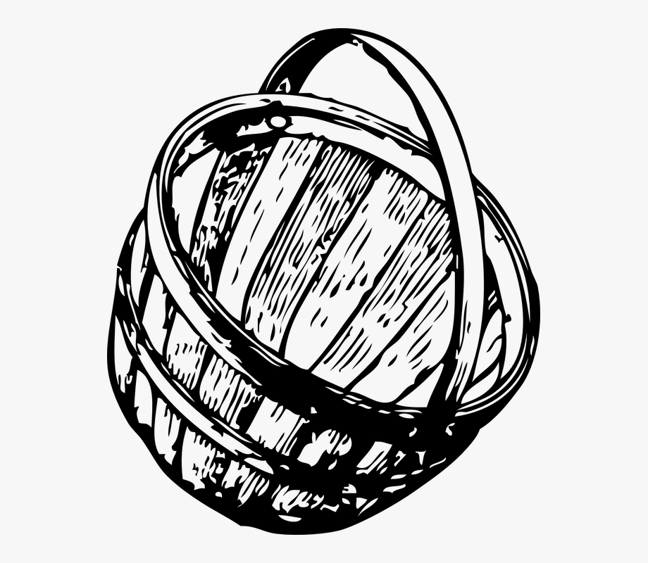 Empty fruit basket clipart black and white jpg royalty free download Fruit Basket Empty Open Black And White Fibres - Basket Clip Art ... jpg royalty free download