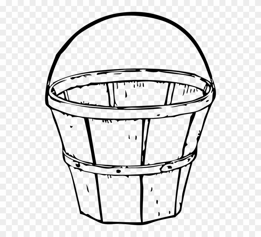 Empty fruit basket clipart black and white clip transparent stock Collection Of Fruit Basket Clipart - Basket Clip Art - Png Download ... clip transparent stock