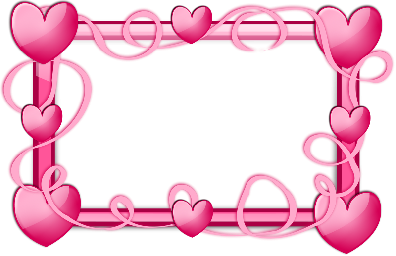 Free heart border clipart graphic library download Pink Hearts Border | Free Stock Photo | A blank frame border with ... graphic library download
