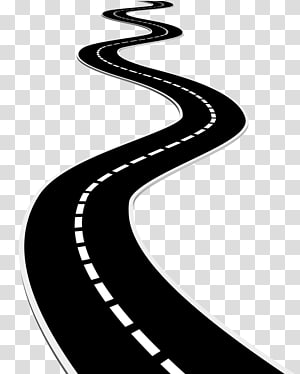 Empty highway clipart black and white png Road and trees illustration, Euclidean Road, road transparent ... png