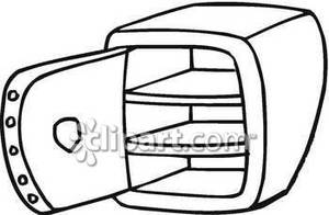Empty highway clipart black and white clipart freeuse stock Empty Black and White Safe - Royalty Free Clipart Picture clipart freeuse stock