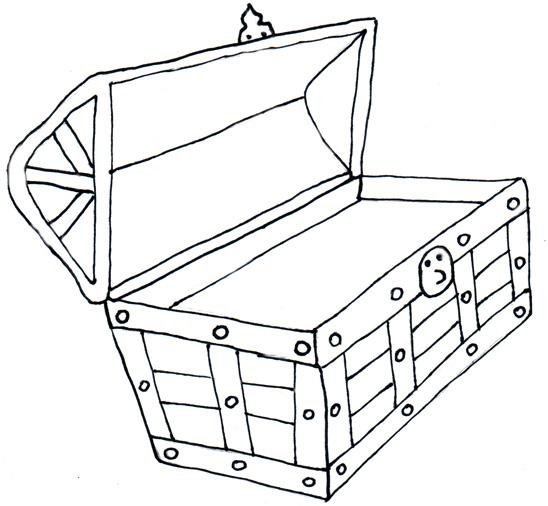 Empty open treasure chest clipart black and white picture black and white library Free Black And White Outline Of A Treasure Chest, Download Free Clip ... picture black and white library