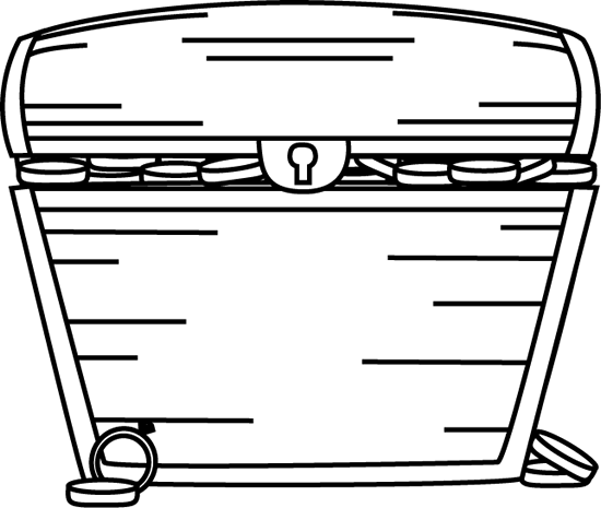 Empty open treasure chest clipart black and white graphic freeuse library Free Black And White Outline Of A Treasure Chest, Download Free Clip ... graphic freeuse library