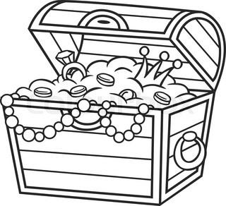 Empty open treasure chest clipart black and white jpg freeuse library Treasure Box Clipart | Free download best Treasure Box Clipart on ... jpg freeuse library