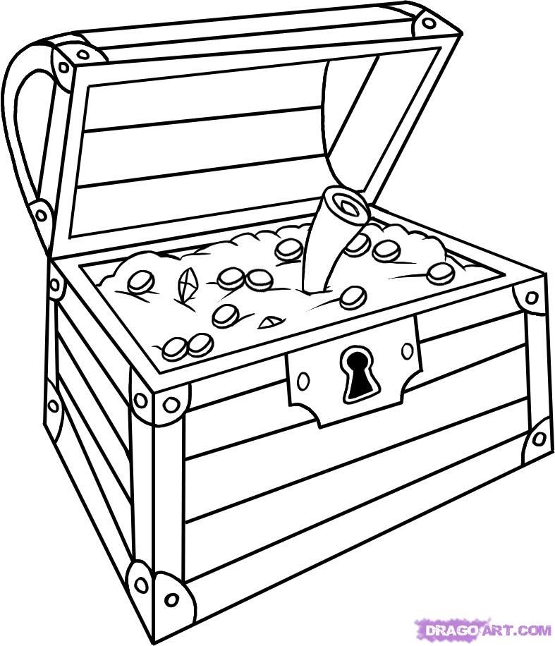 Empty open treasure chest clipart black and white image library download treasure chests - Google Search | treasure chests | Treasure chest ... image library download