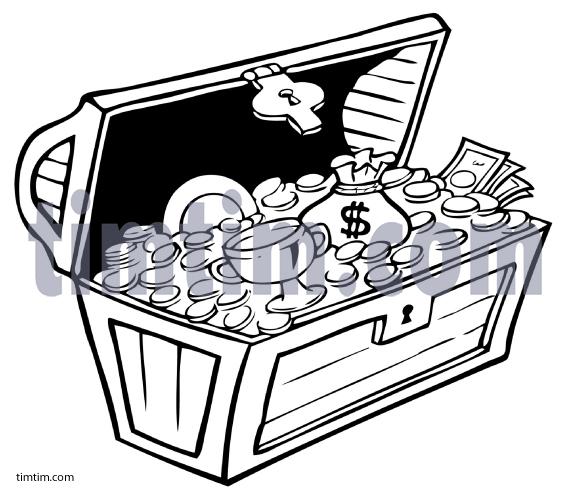 Empty open treasure chest clipart black and white picture download Open Treasure Chest Clipart | Free download best Open Treasure Chest ... picture download