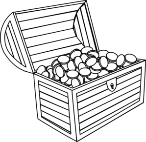 Empty open treasure chest clipart black and white image black and white Treasure chest treasure black and white clipart clipart kid 2 | Walk ... image black and white