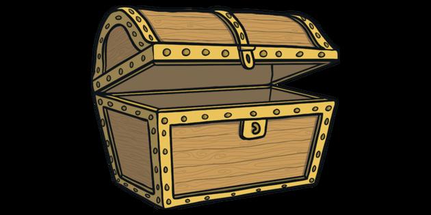Empty treasure chest clipart clip art black and white stock Empty Treasure Chest Illustration - Twinkl clip art black and white stock