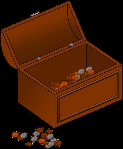 Empty treasure chest clipart clip art free stock Vector clip art of half empty treasure chest with coins outside ... clip art free stock