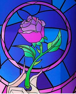 Enchanted rose beauty and the beast stained glass clipart picture black and white enchanted rose uploaded by Gina Homan on We Heart It picture black and white