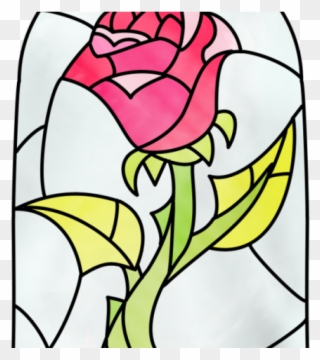 Enchanted rose beauty and the beast stained glass clipart clipart royalty free download Stained Glass Clipart Cartoon - Beauty And The Beast Flower Drawing ... clipart royalty free download