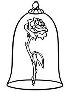 Enchanted rose pink beauty and the beast clipart image black and white download Details about Decal Vinyl Truck Car Laptop Sticker - Disney Beauty And  Beast Enchanted Rose image black and white download