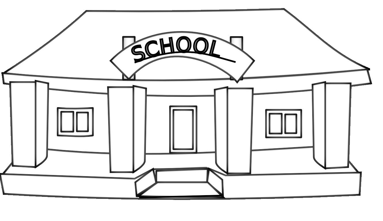 Free black and white clipart for school. Clip art info netalloy