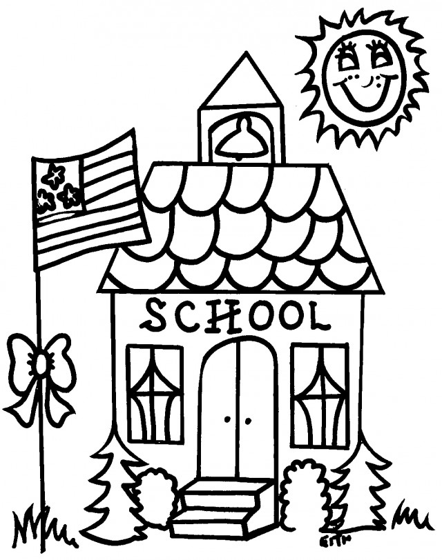 End of school black and white clipart cute jpg royalty free stock Schoolhouse Clipart Black And White | Free download best Schoolhouse ... jpg royalty free stock