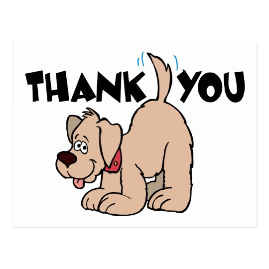 End view of wagging dog tail clipart jpg freeuse library Thank You ~ Dog Wagging Tail in Appreciation Postcard | Zazzle jpg freeuse library