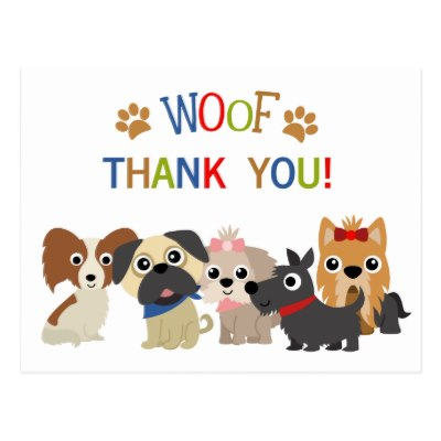 End view of wagging dog tail clipart svg royalty free download Thank You ~ Dog Wagging Tail in Appreciation Postcard | Zazzle svg royalty free download