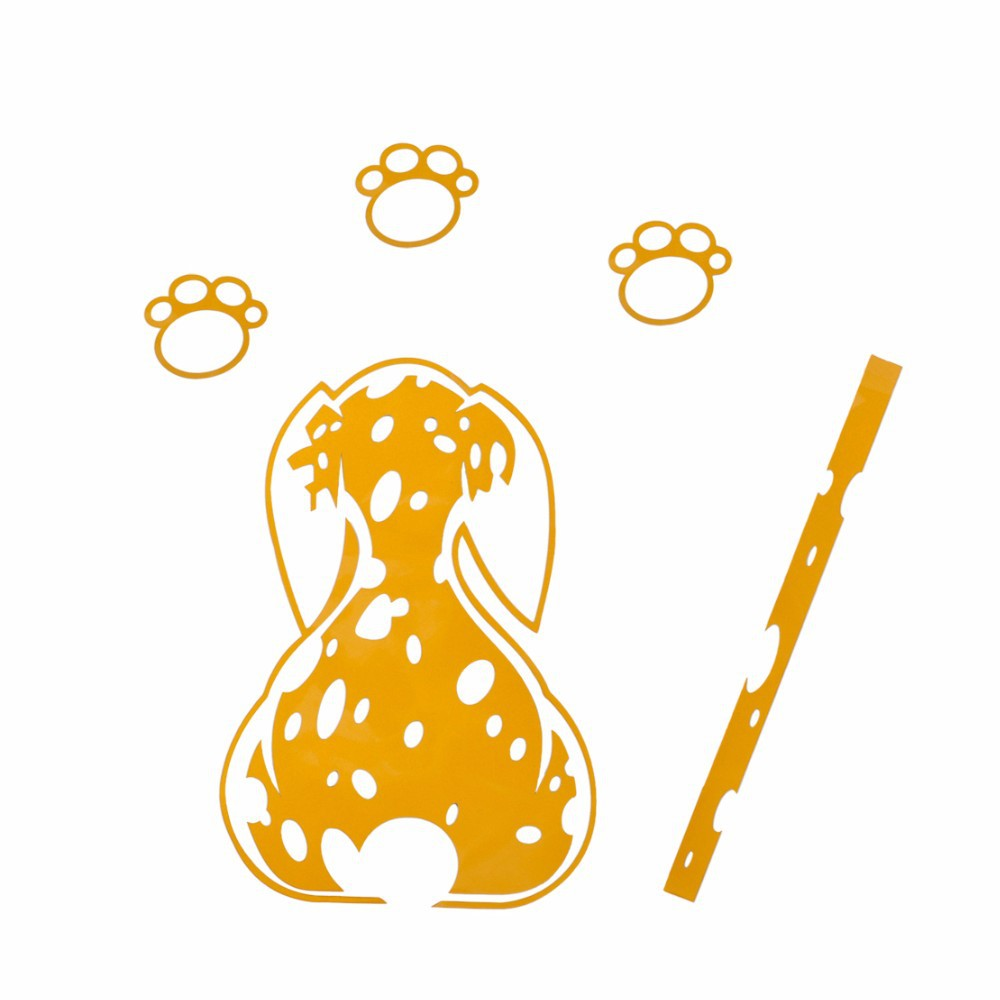 End view of wagging dog tail clipart graphic free stock Wagging Tail Spotted Dog Window Wiper Decal - Top Pet Gifts graphic free stock
