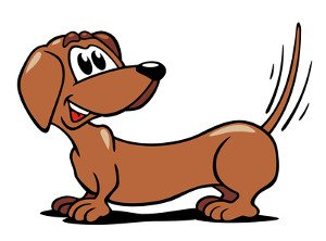 End view of wagging dog tail clipart