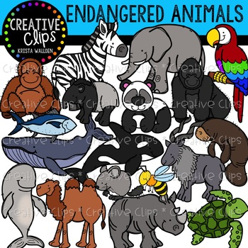 Endangered species in clipart image download Endangered Animals Clipart {Creative Clips Clipart} image download