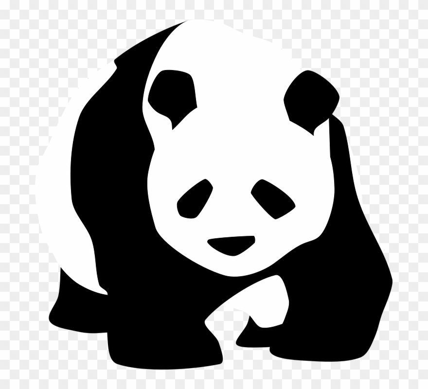 Endangered species clipart clip free download Endangered Species On The Rise - Panda Black And White Clipart ... clip free download