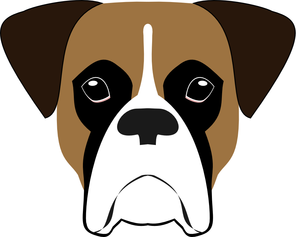 Image result for boxer. Energetic dog clipart