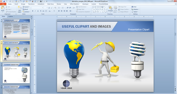 Energy clipart animations clip free download Animated PowerPoint Templates for Presentations on Renewable Energies clip free download