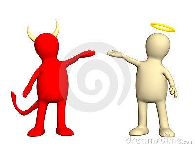 Engelchen und teufelchen clipart clip download Angel And Devil Stock Photo - Image: 5577430 clip download