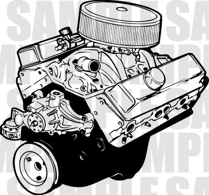Engines clipart graphic freeuse library Chevy Engine Clipart #1 | ART [cars#1] | Chevy, Engineering, Clip art graphic freeuse library