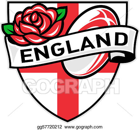 England rugby logo clipart jpg royalty free stock Clipart - Rugby england rose flag shield. Stock Illustration ... jpg royalty free stock