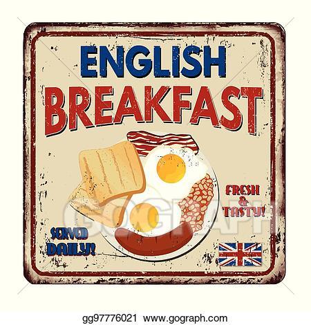 English breakfast clipart clip art royalty free library EPS Vector - English breakfast vintage rusty metal sign. Stock ... clip art royalty free library