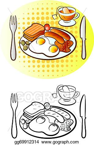 English breakfast clipart banner royalty free library Vector Art - English breakfast. EPS clipart gg69912314 - GoGraph banner royalty free library