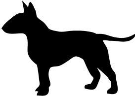 English bull terrier clipart black and white svg free library Bull Terrier Silhouette Clipart - Free Clip Art Images | Dogs | Dog ... svg free library
