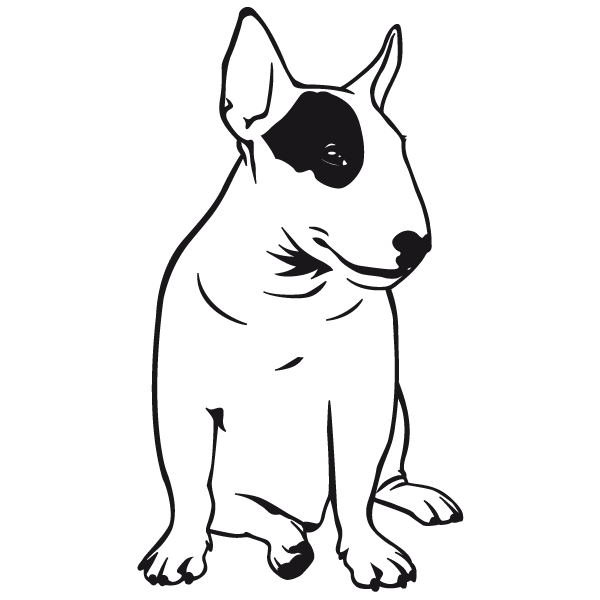English bull terrier clipart black and white clip free stock bull terrier logo - Google Search | Projects to Try | Bull terrier ... clip free stock