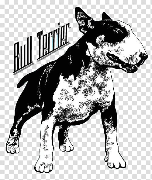 English bull terrier clipart black and white image download Bull Terrier T-shirt Hoodie Sleeve Clothing, Printed dog transparent ... image download