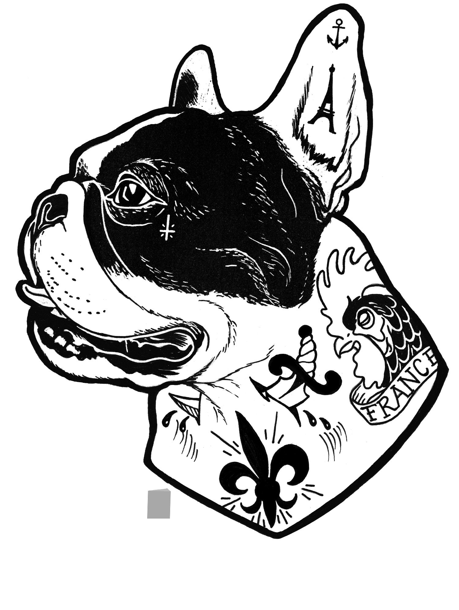 English bulldog with crown clipart. Tattooed french cheryl hubbard
