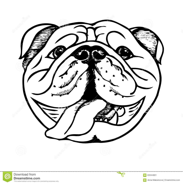 Smart bulldogs clipart clip art royalty free library English Bulldog Black White Stock Illustrations, Vectors ... | Fun ... clip art royalty free library