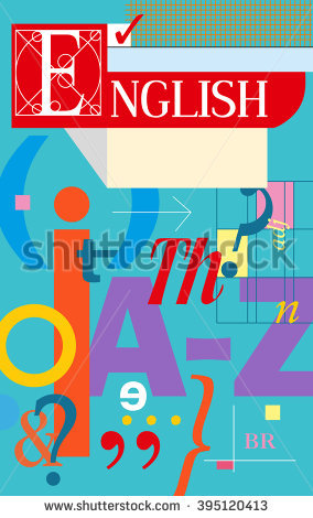 English Cover Textbook Notebook Book English Stock Vector ... banner black and white library