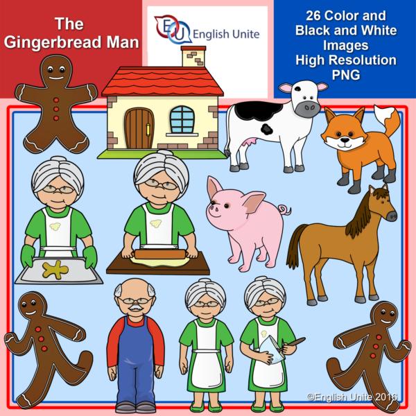 English clipart cover photo vector freeuse stock English Unite Clip Art - The Gingerbread Man - English Unite vector freeuse stock