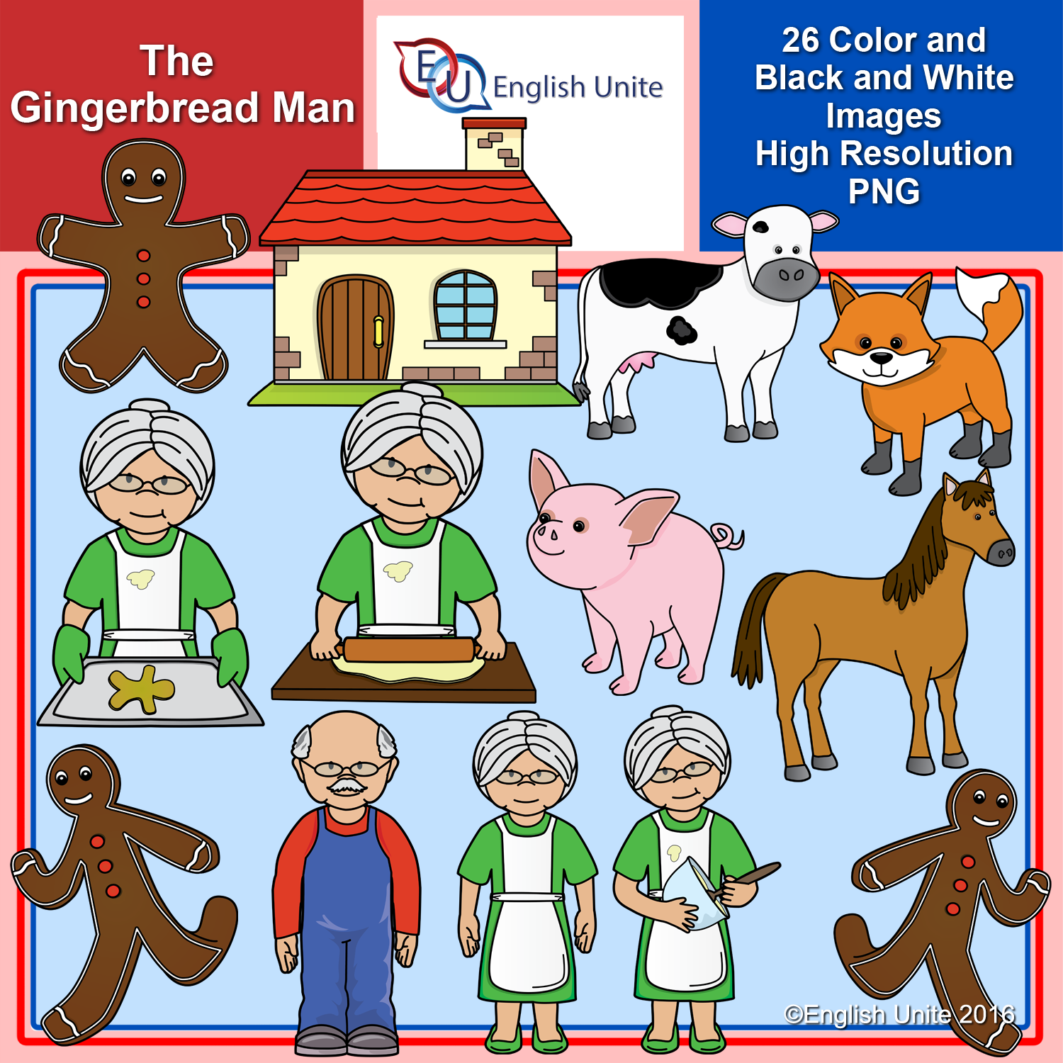 English clipart cover photo png transparent English Unite Clip Art - The Gingerbread Man - English Unite png transparent