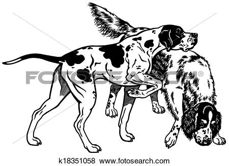 English pointer clipart clipart freeuse download Clip Art of english pointer and setter k18351058 - Search Clipart ... clipart freeuse download
