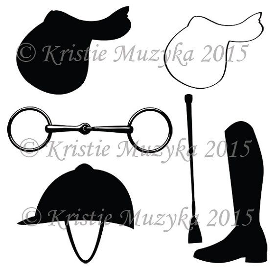 English saddle clipart banner library download Equestrian Themed Clip Art Digital Download Graphics Commercial Use ... banner library download